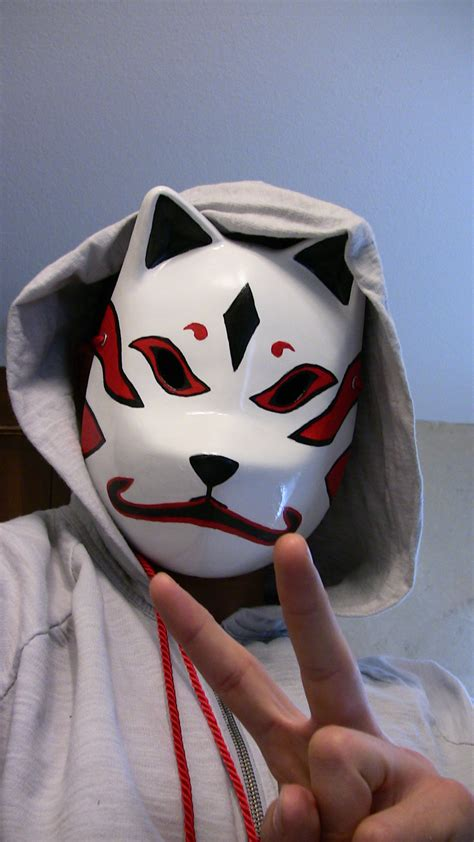 Kitsune Mask Papercraft - kitsune mask by the0espada on deviantart