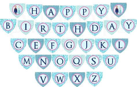 printable happy birthday banner frozen 9 best images of frozen birthday banner free printable