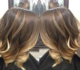 brown and ombre with a line hair cut 15 highlighted bob hairstyles pinkous