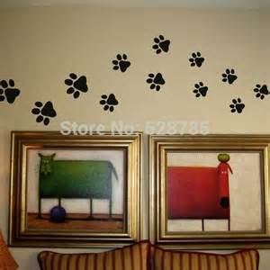 Print Wall Stickers Paw Print Wall Stickers 20 Walking Paw Prints Wall Decal