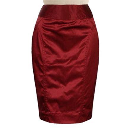 high waisted satin pencil skirt custom fit handmade