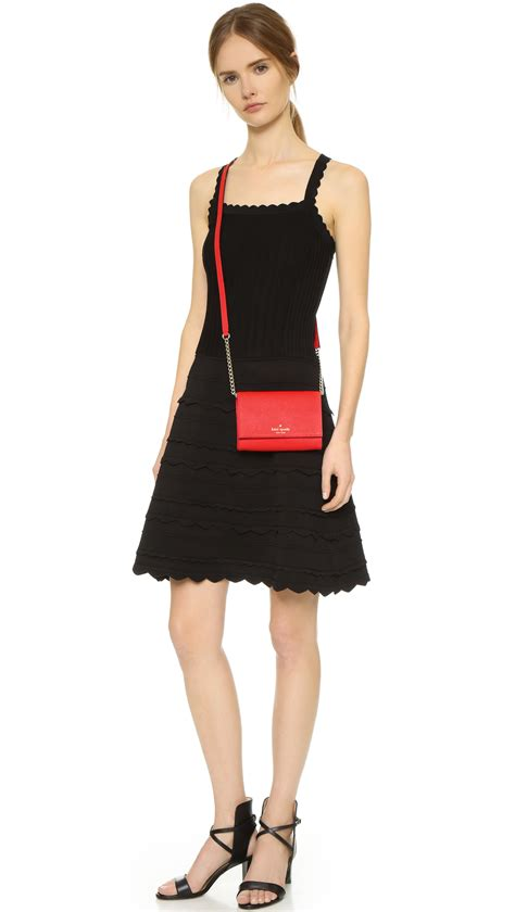kate spade lyst kate spade new york cami cross body bag in red