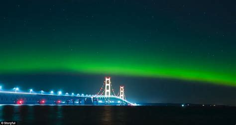 why northern lights happen northern lightsin the us paint the michigan sky green