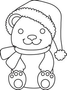 santa bear coloring page free teddy bear clipart image 0071 0906 0321 5324