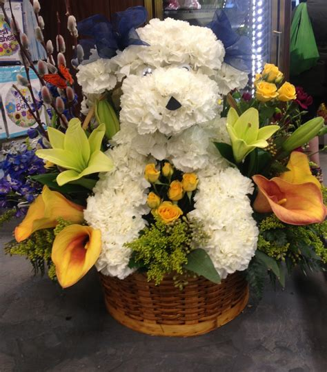 dogs made of we dogs we flowers we dogs made out of flowers central square florist