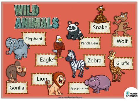 20 preguntas en ingles y español los animales salvajes y su nombre en ingl 233 s