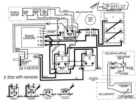 ezgo txt  volt wiring diagram
