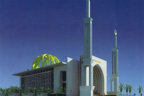 foto desain masjid gaya mediterania masjid islamic center uad yang idealis 1