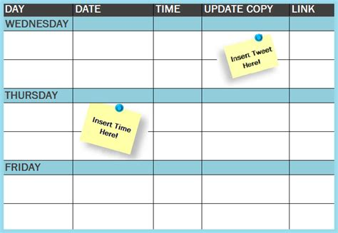 Publishing Schedule Template social media calendar 2016 free template calendar template 2016