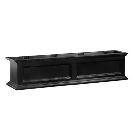 Plastic Planter Boxes For Sale by Mayne Fairfield 5823b Window Box Planter 4 Foot Black