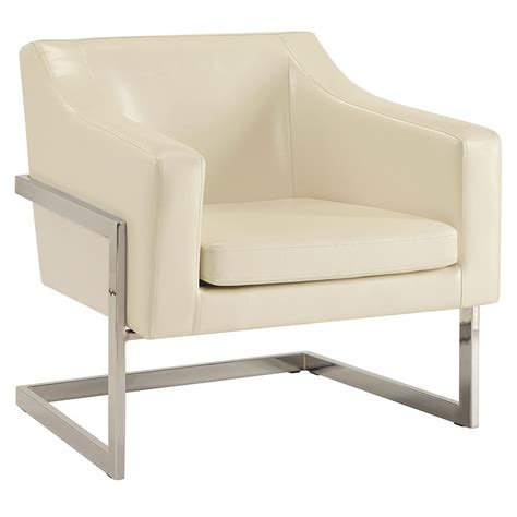 Modern White Lounge Chair by Modern Chairs Shaw White Lounge Chair Eurway
