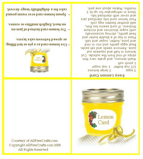 printable lemon recipes how to make lemon curd