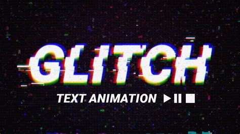 lettering animation tutorial glitch text animation effect psd template photoshop