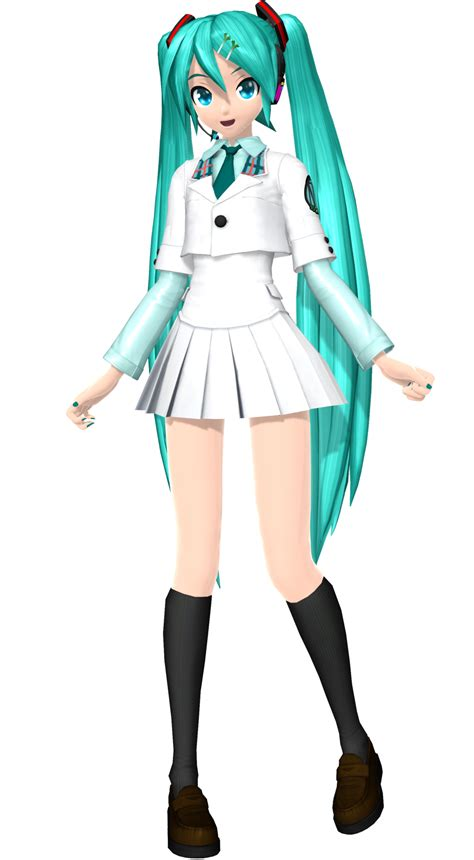 Kaos Anime Miku School White project arcade future tone school miku by luke