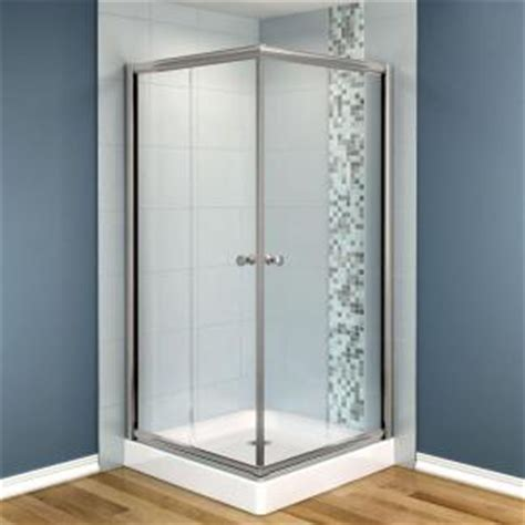 32 X 36 Shower Maax Centric 32 In X 32 In X 70 In Frameless Corner