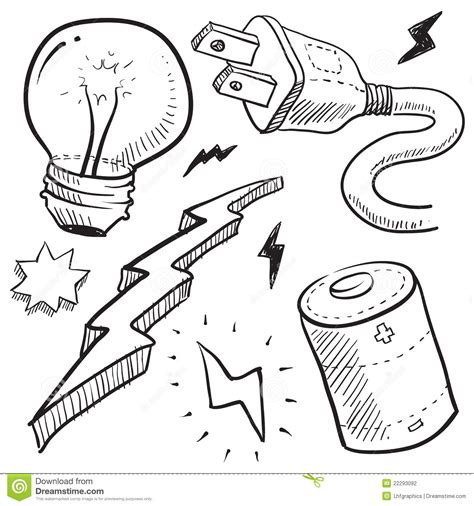 doodle electricity electricity and power illustration stock photography