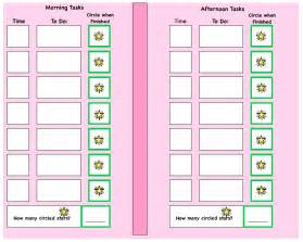 visual schedule template search results for autism visual schedule template