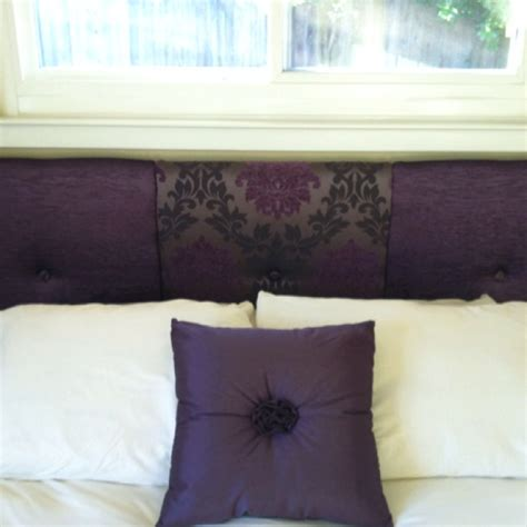 Purple Fabric Headboard by Diy Headboard I Didn T Like The Fabric Idea But This