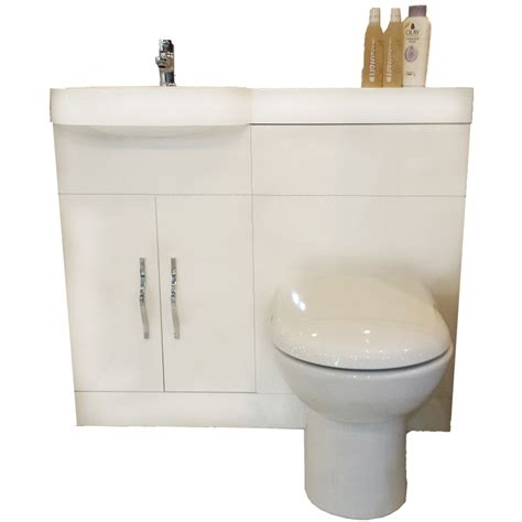 gravity combination vanity unit white and basin bathroom