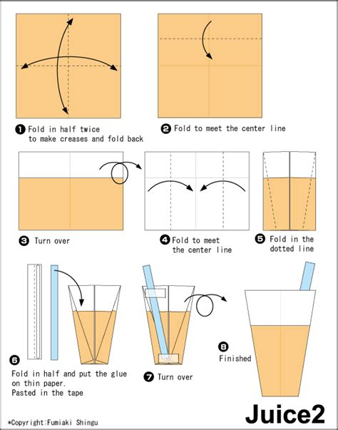 Origami Food - juice 2 easy origami for