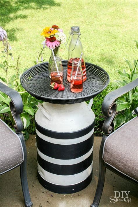 Milk Can Table by Hometalk Milk Can Side Table