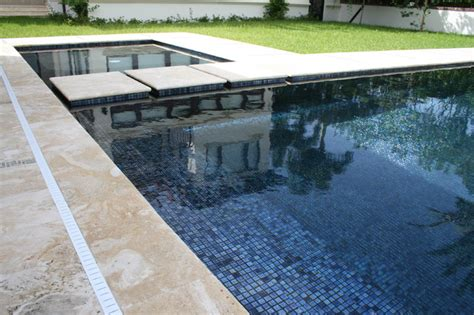 best pool tile iridescent black glass tile contemporary miami by