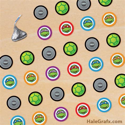 Printable Tmnt Stickers   free printable ninja turtle hershey s kisses stickers