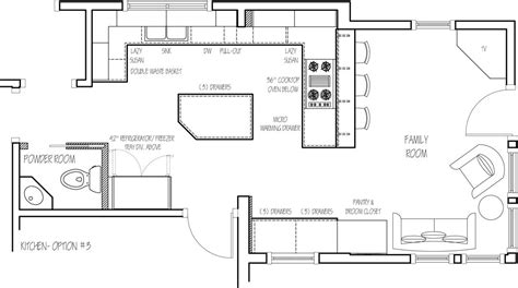 kitchen island floor plans floor plan option 3 home ideas kitchen