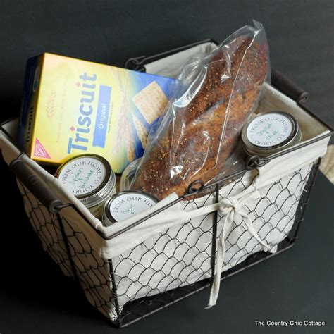 Cottage Hostess Gift Ideas by Cheese Spread Jar Gift Basket The Country Chic Cottage