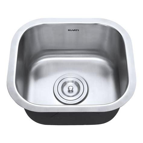 15 inch undermount bar sink ruvati 13 x 15 inch bar prep sink undermount 16