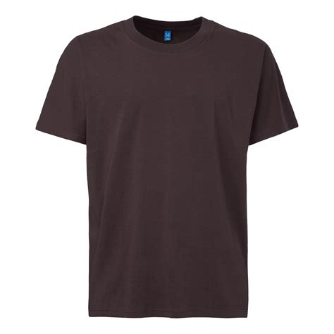 t shirt tt16 t shirt dark brown fairtrade gots sale man