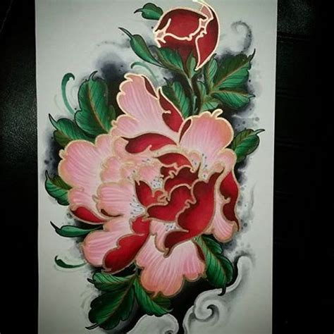 peony tattoo meaning japanese 34 best japanese peony flower tattoo images on pinterest