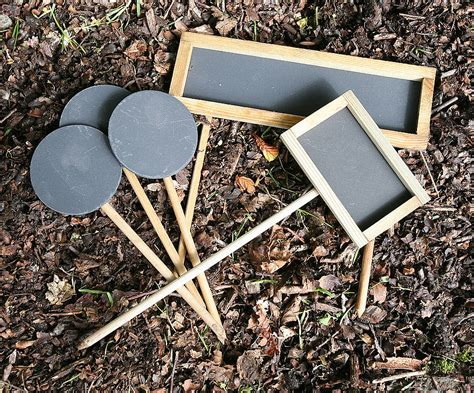 Planter Markers by Five Assorted Blackboard Plant Markers By Plantabox