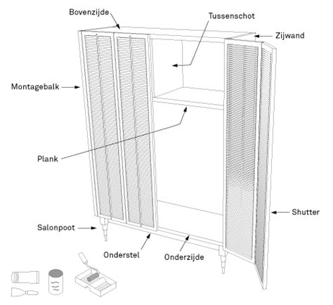 bruynzeel keukens losse onderdelen maak een kast met deuren van shutters karwei