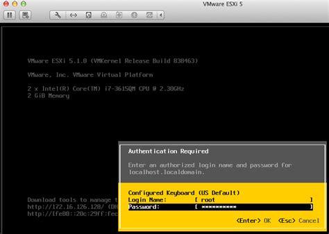 vmware esxi console how to run vmware vsphere esxi in fusion