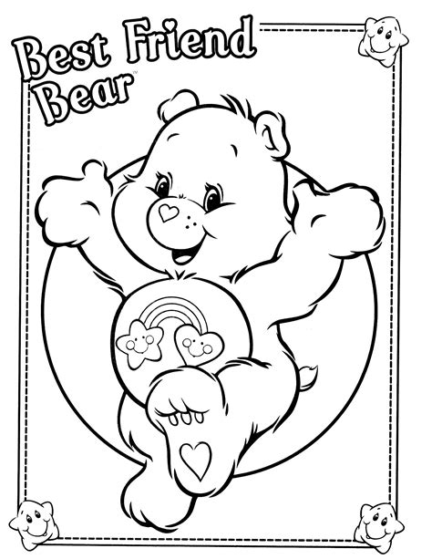 care coloring pages care bears coloring page care themed