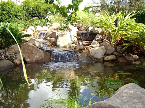 waterfalls fountains koi ponds lombardo landscaping
