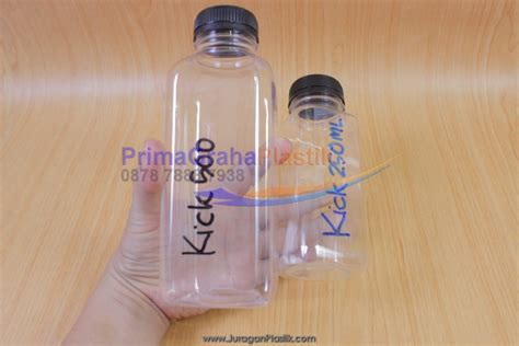 Botol Pet 250 Ml Tutup Isi 105 Pcs botol juice buah dll quot kick 250 500 ml quot stock ready home