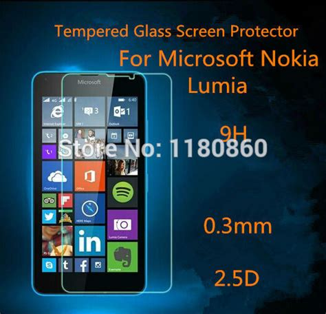 Premium Tempered Glass Warna Nokia 5 Cover premium tempered glass screen protector guard for microsoft nokia lumia 435 532 640 640xl