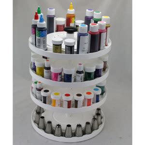 4 tier cake decorating carousel organizer kitchen krafts