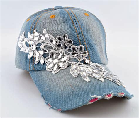 flower design hats new flower designs women rhinestone bling adjustable