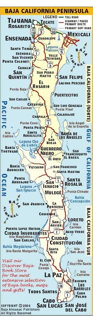 baja map mexico baja california map cing on the in san felipe