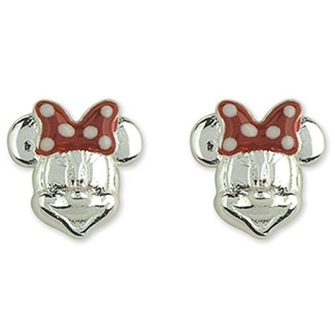 disney sterling silver minnie mouse stud earrings with