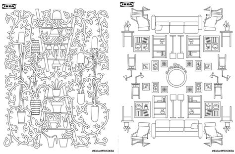 d mcdonald designs coloring book 2017 books ikea s coloring book for free 6sqft