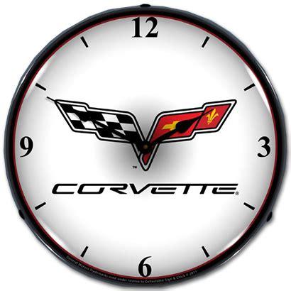 c6 corvette lighted clock chevymall