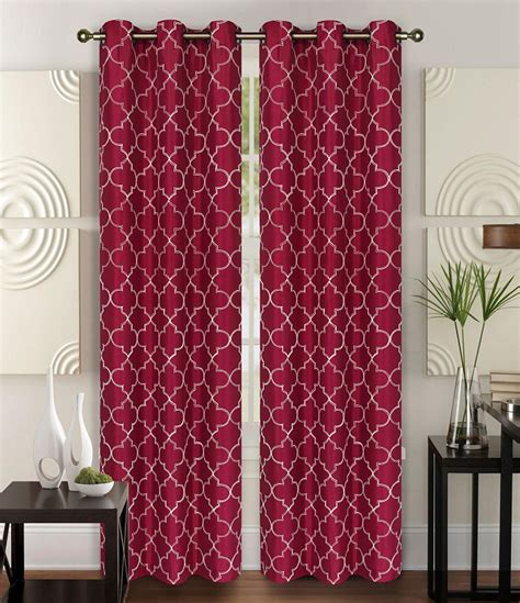 burgundy curtain panels pair of piper burgundy faux silk window curtain panels w