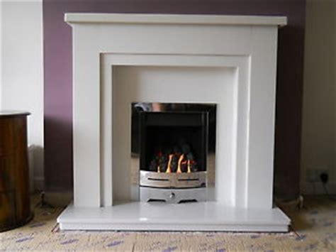 solid marble fireplace white mantle marble surround chrome