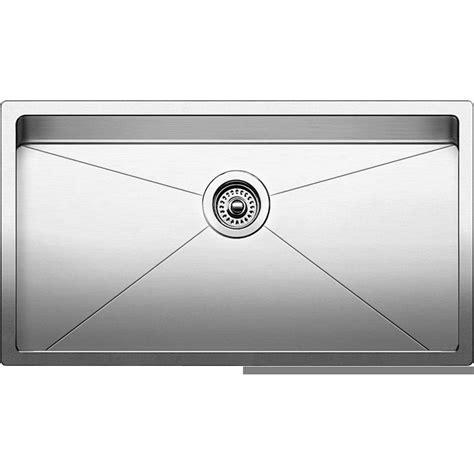blanco stainless steel undermount sink blanco 519548 quatrus r15 stainless steel undermount