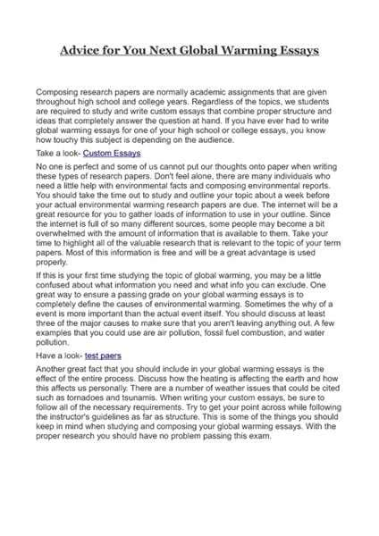 global warming essay writing help