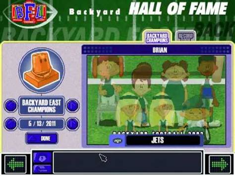 backyard football players backyard football 2002 hall of fame theme and credits